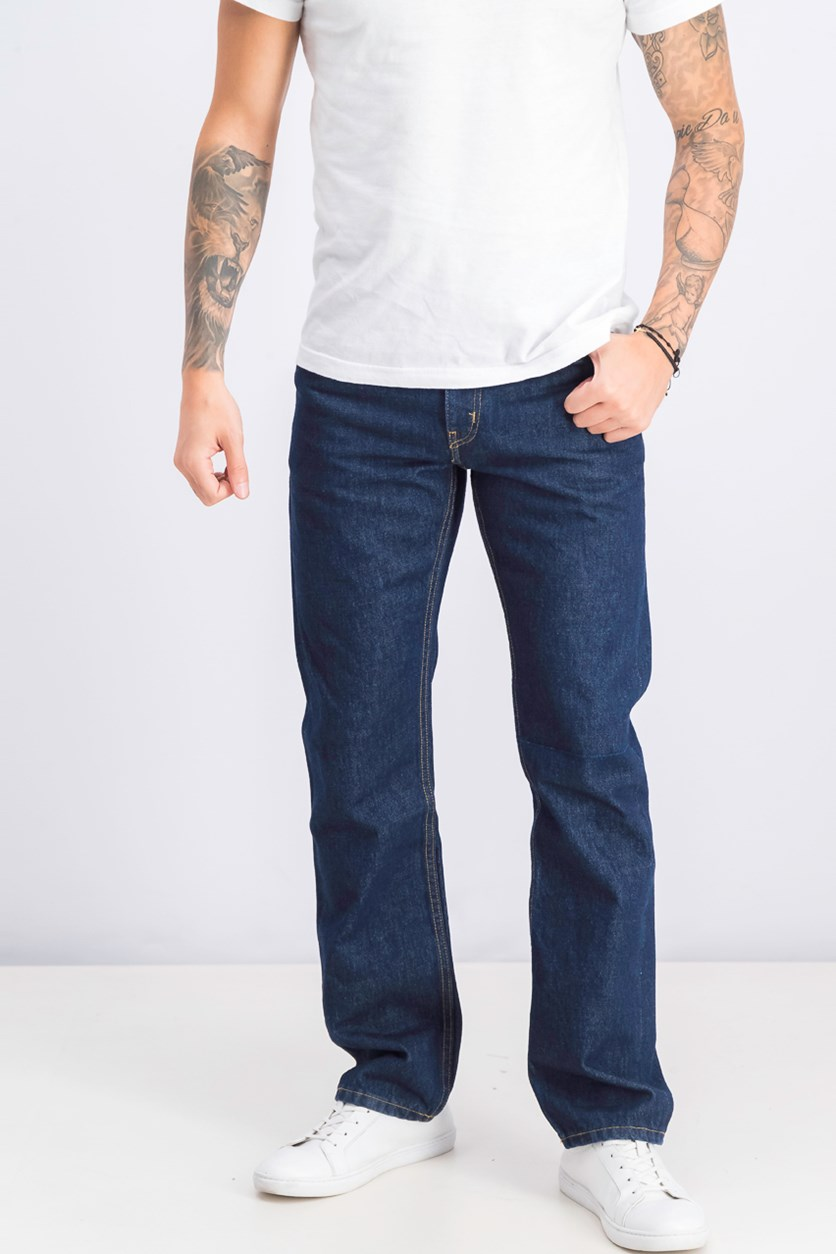 Men's Straight Jeans, Navy