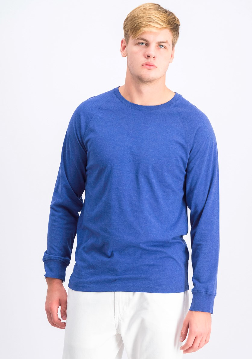 Men's Long Sleeve T-Shirt, Blue Heather