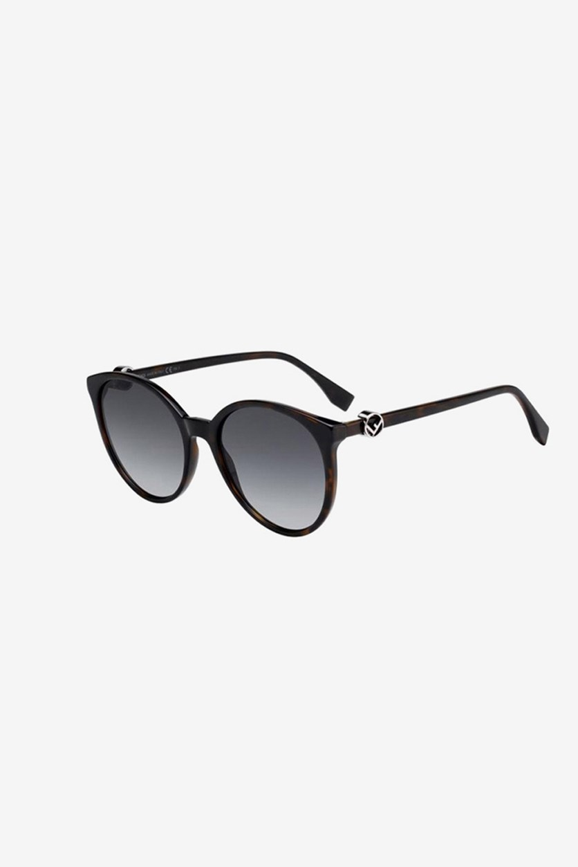Women's FF0288 Sunglasses, Dark Havana