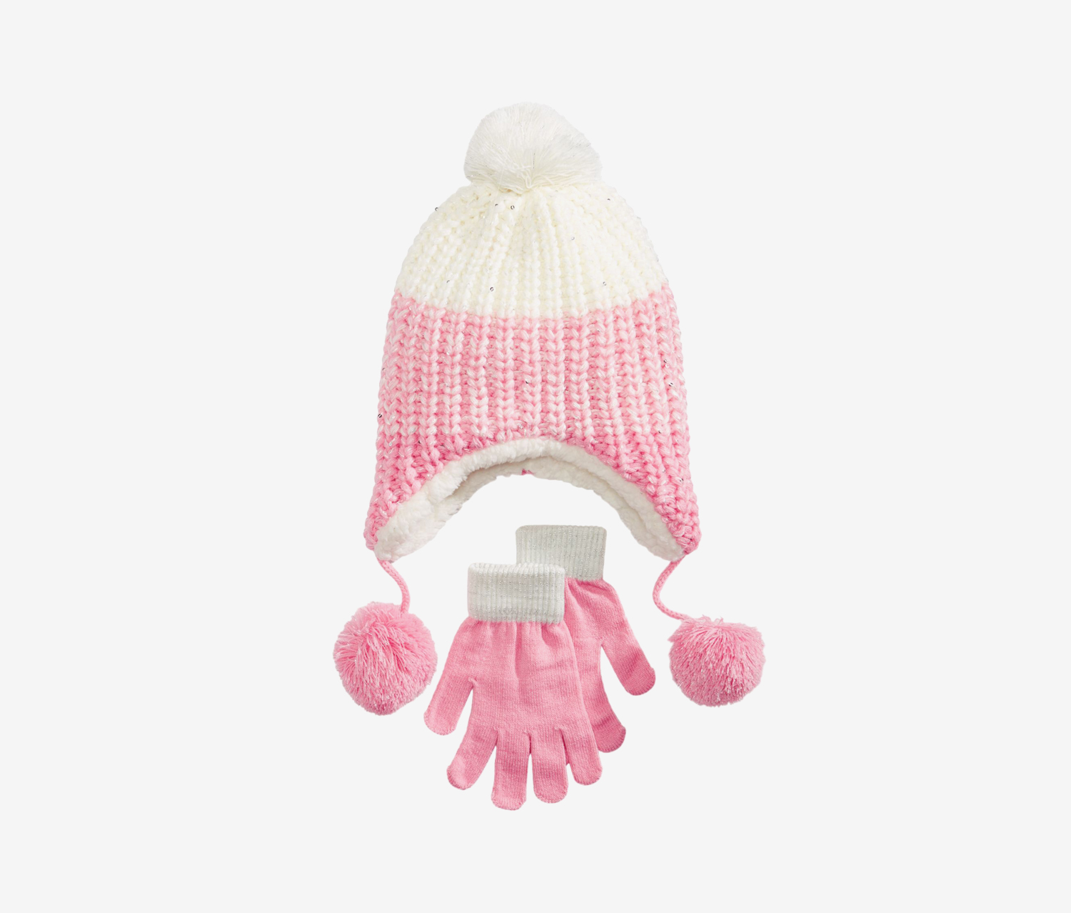 Girls 2-Pc. Ombre Heidi Hat & Gloves Set, Pink