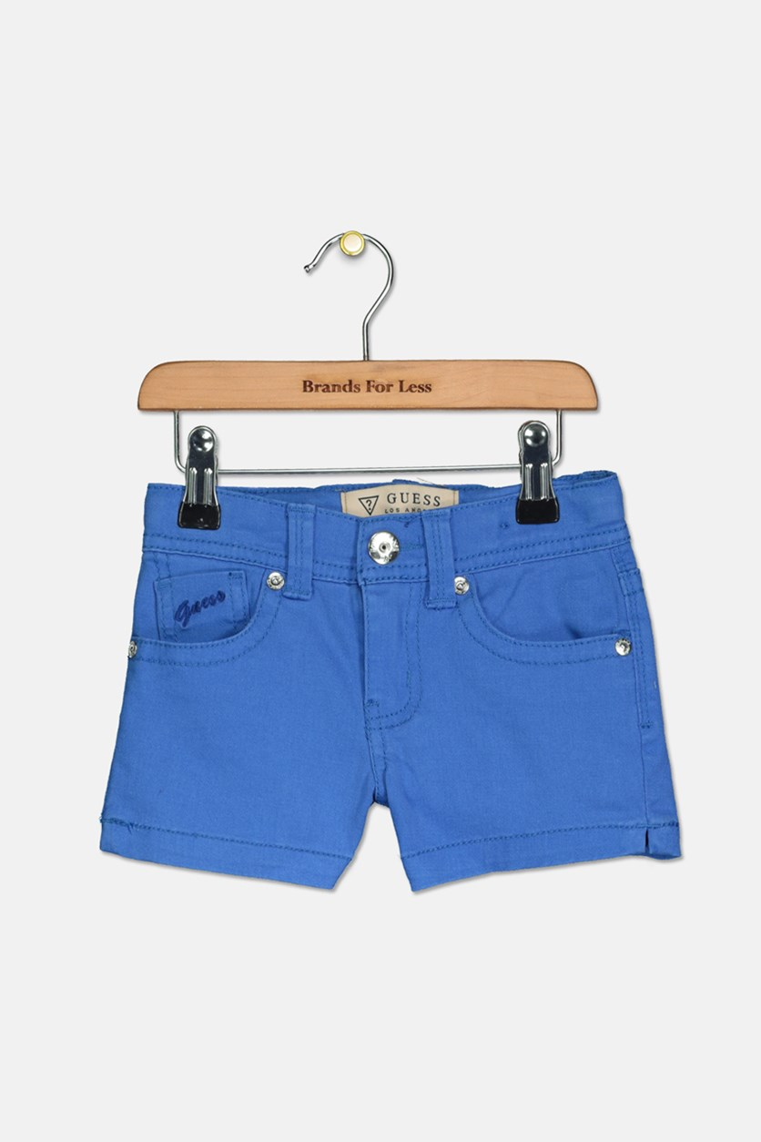 Kids Girls Twill Short, Blue