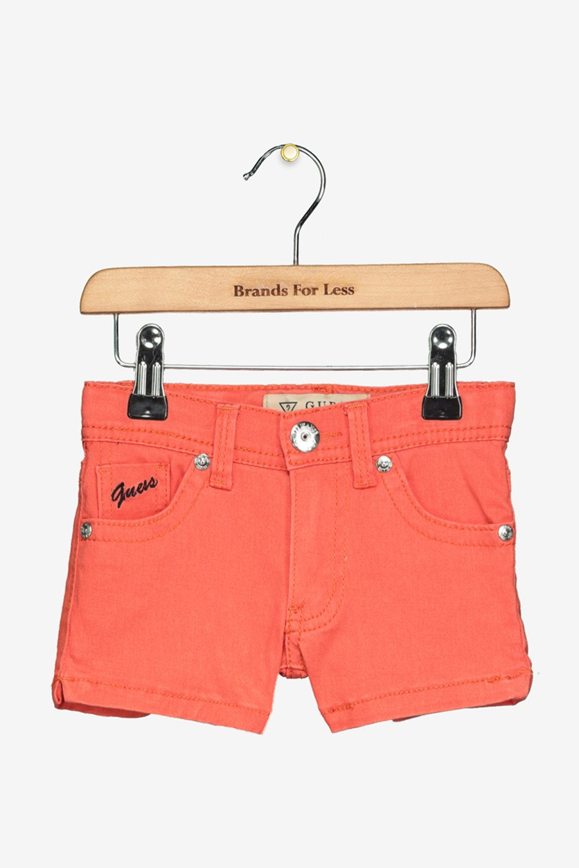 Kids Girls Twill Short, Orange