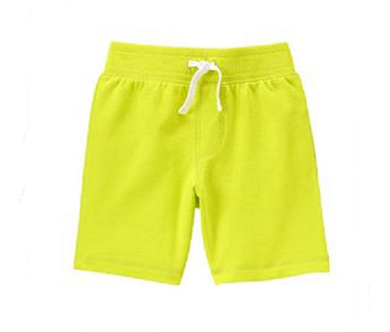 Crazy 8 Boy's Pull on Short, Lime Green