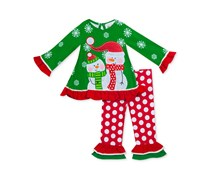 Rare Editions Baby Girls 2-Pc. Snowman Top & Leggings Set, Red/Green