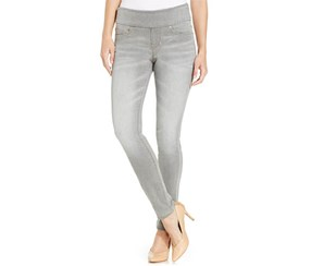 Jag Women's Nora Pull-On Stretch Knit Skinny Jeans, Gray