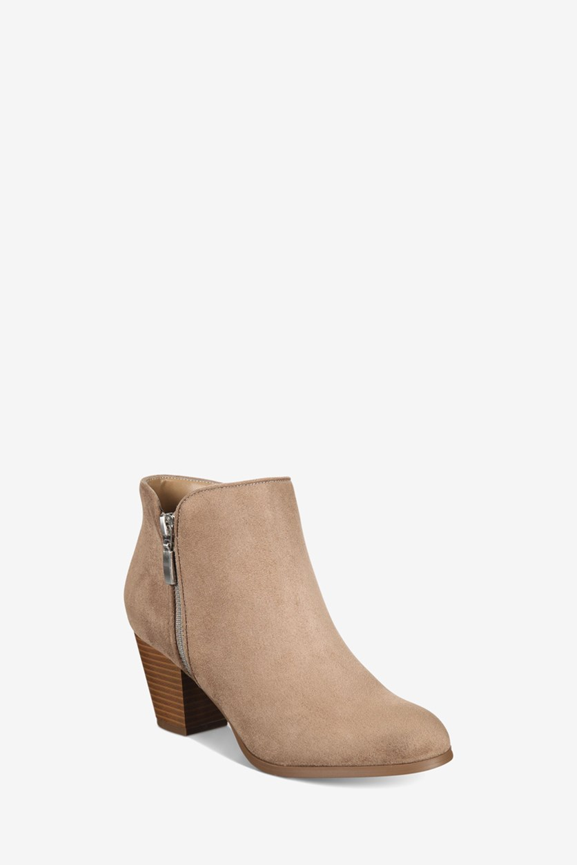 Women's Jamila Microsuede Ankle Booties, Taupe