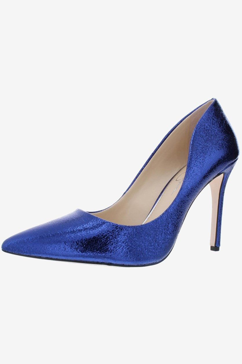 Women's Cassani3 Metallic Stiletto Dress Heels, Cobalt Blue