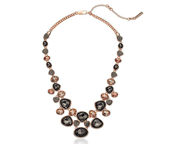 Kenneth Cole Women's Necklace, Rose Gold/Black