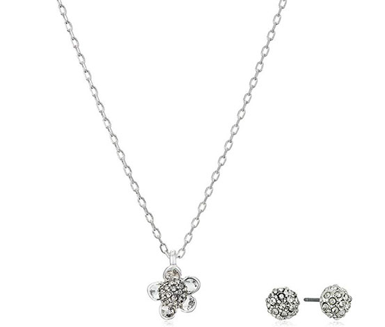 Kenneth Cole Women's Necklace And Earring Set, Silver
