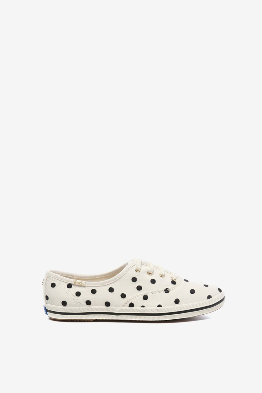 Women's Champion For Kate Spade Dancing Dot Sneakers, White/Black