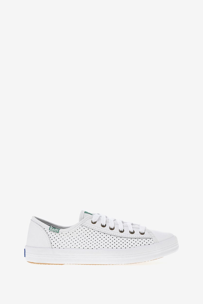 Women's Kickstart Puff Leather Sneakers, White
