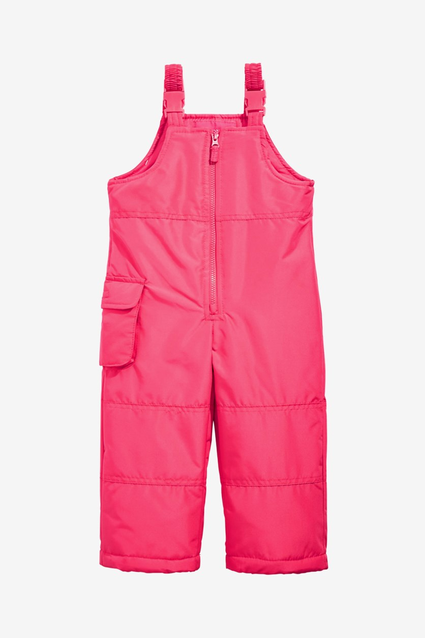 Little Girls Bib Jumpsuit, Pink