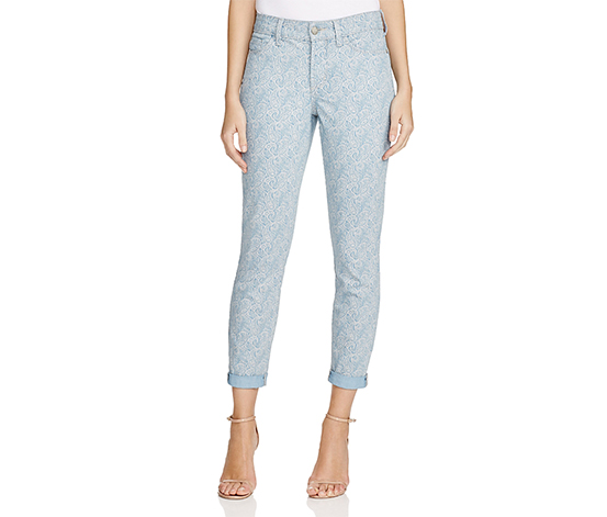 Nydj Rachel Women's Cropped Jeans in Heirloom Paisley, Blue