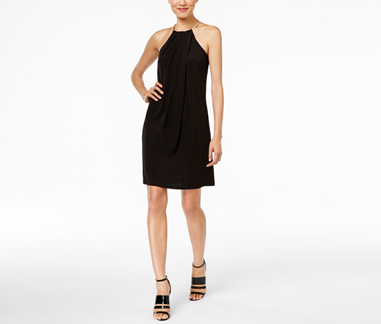 Calvin Klein Embellished Halter Sheath Dress, Black