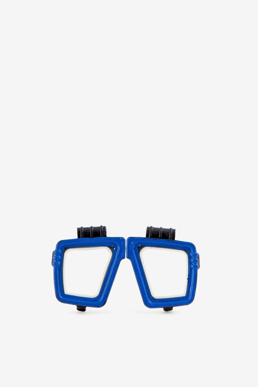 Scuba Goggles Contact Lens Case, Blue