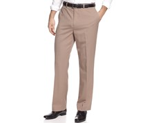 Louis Raphael Rosso Men's Flat Front Dress Pant, Sand