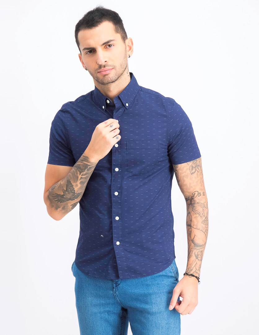 Men's Short Sleeve Shirt, Navy