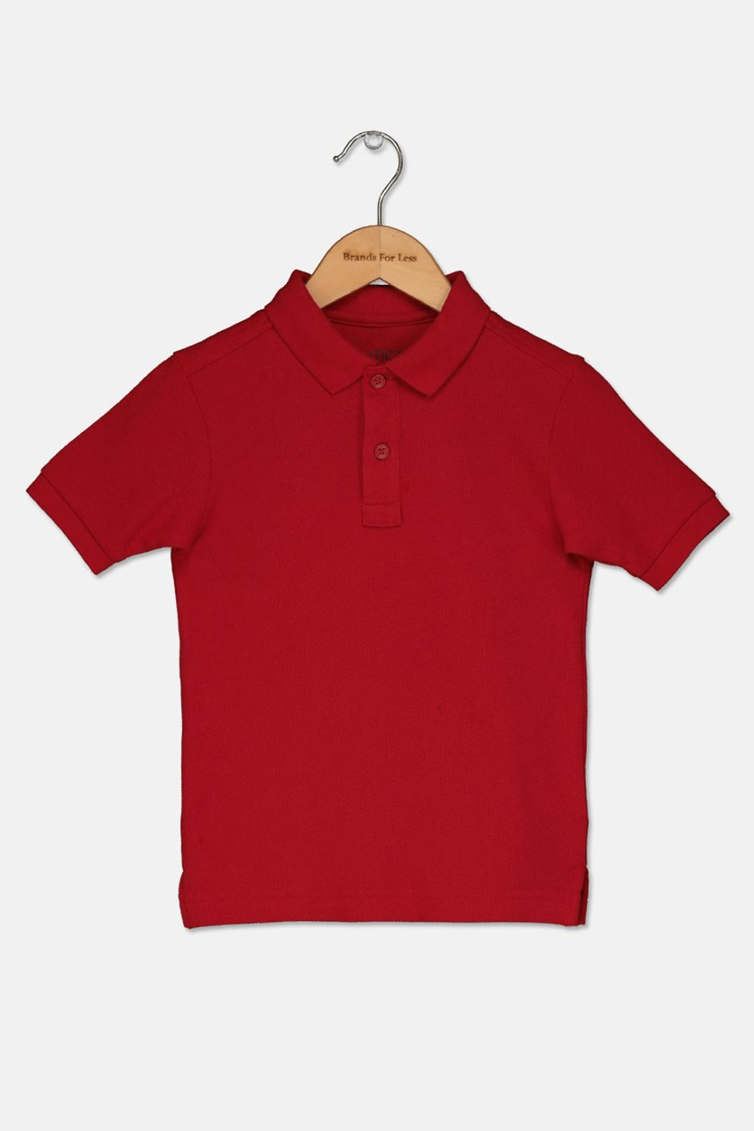 Little Boys Pique Polo, Red