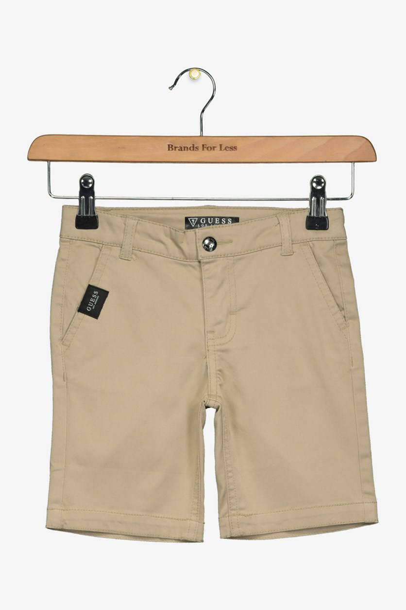 Kids Boys Twill Short, Indian Brown