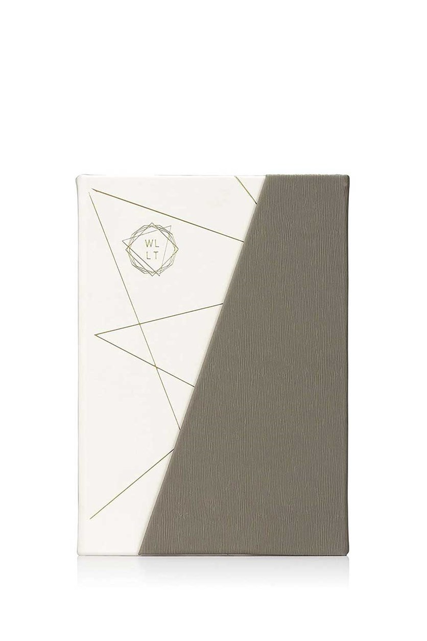 We Live Like This 50/50 Notebook, Grey/White