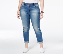 American Rag Plus Size Ripped Girlfriend Jeans, Kimber Wash