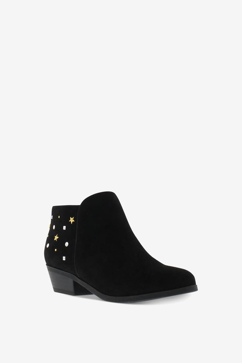 Big Girls Paula Studdy Booties, Black