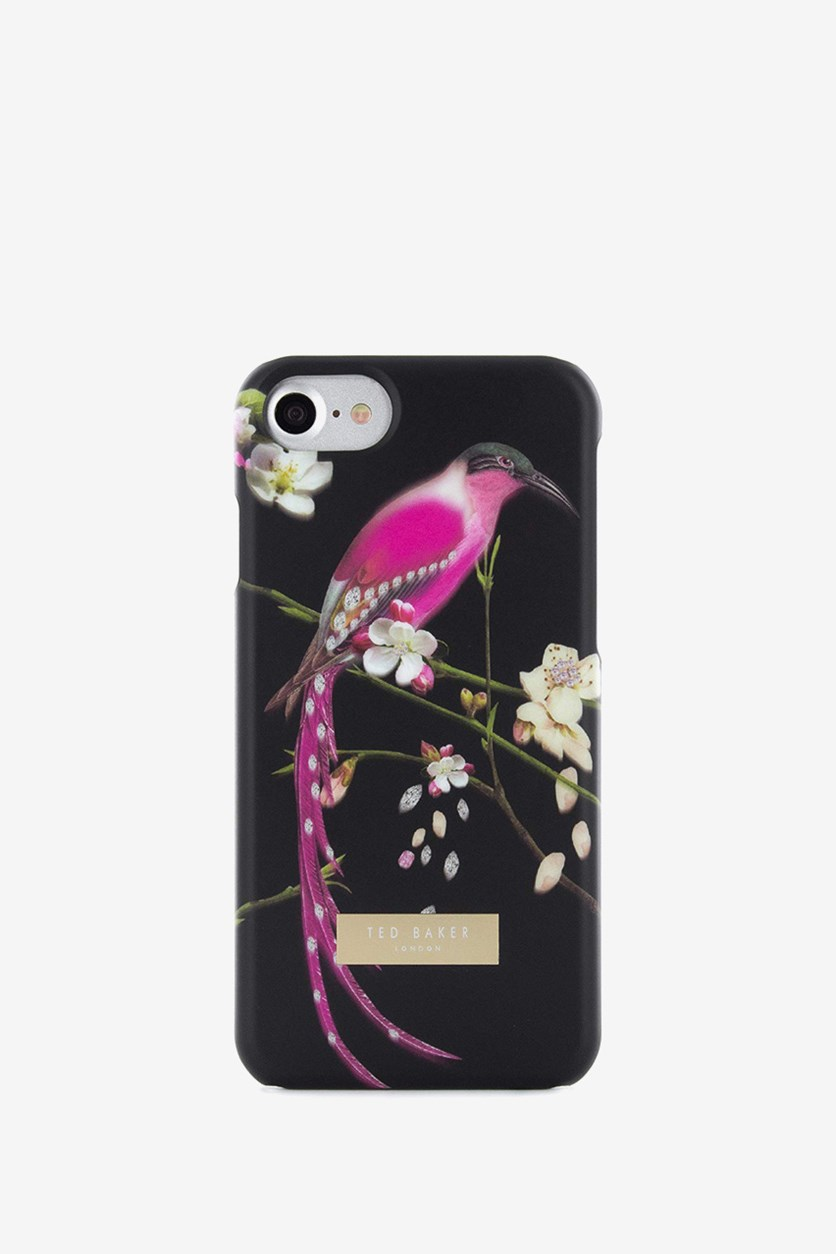 Hard Shell For Apple iPhone7 Case-Flight Of the Orient Print, Black