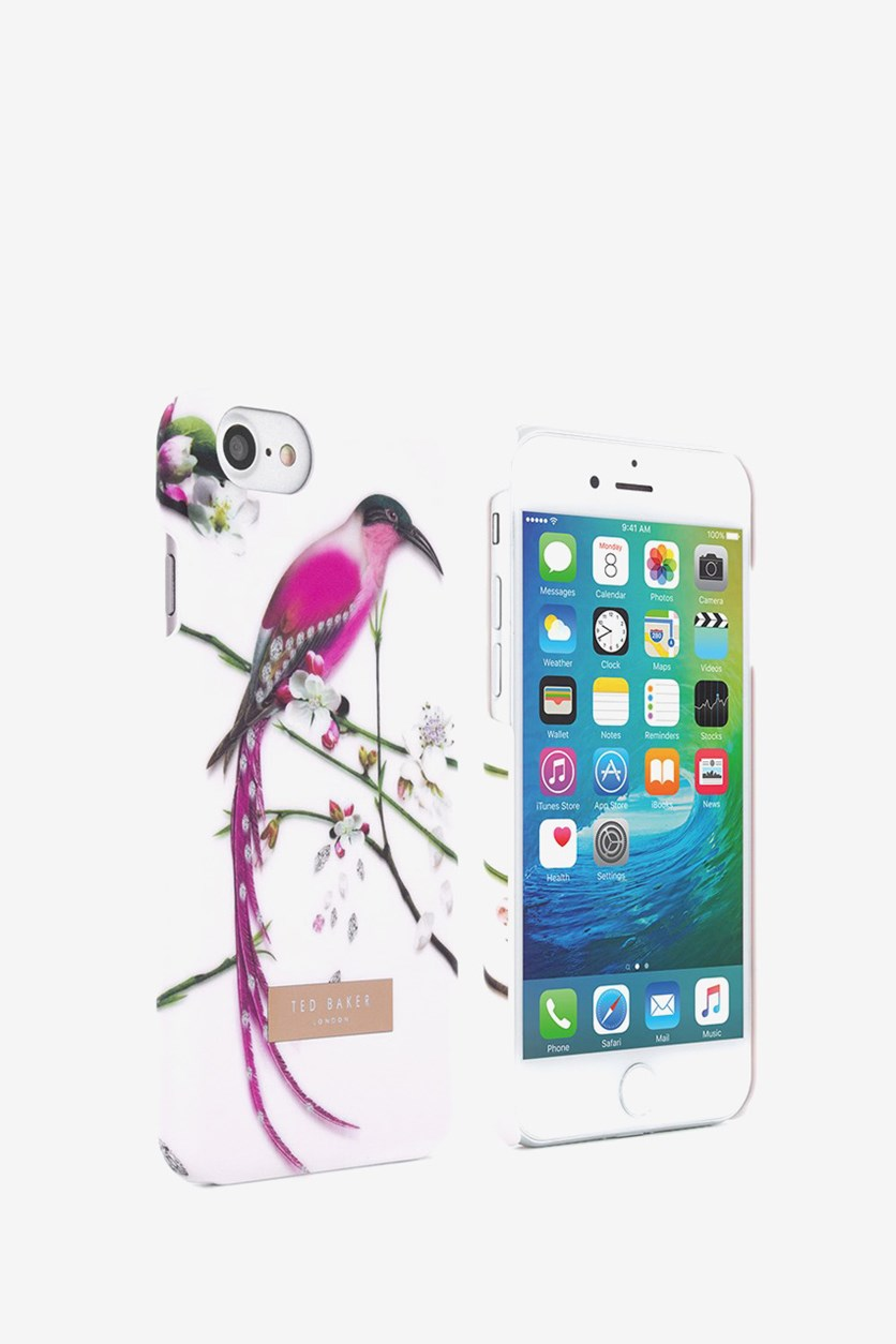 Hard Shell For Apple iPhone7 Case-Flight Of the Orient Print, Blush