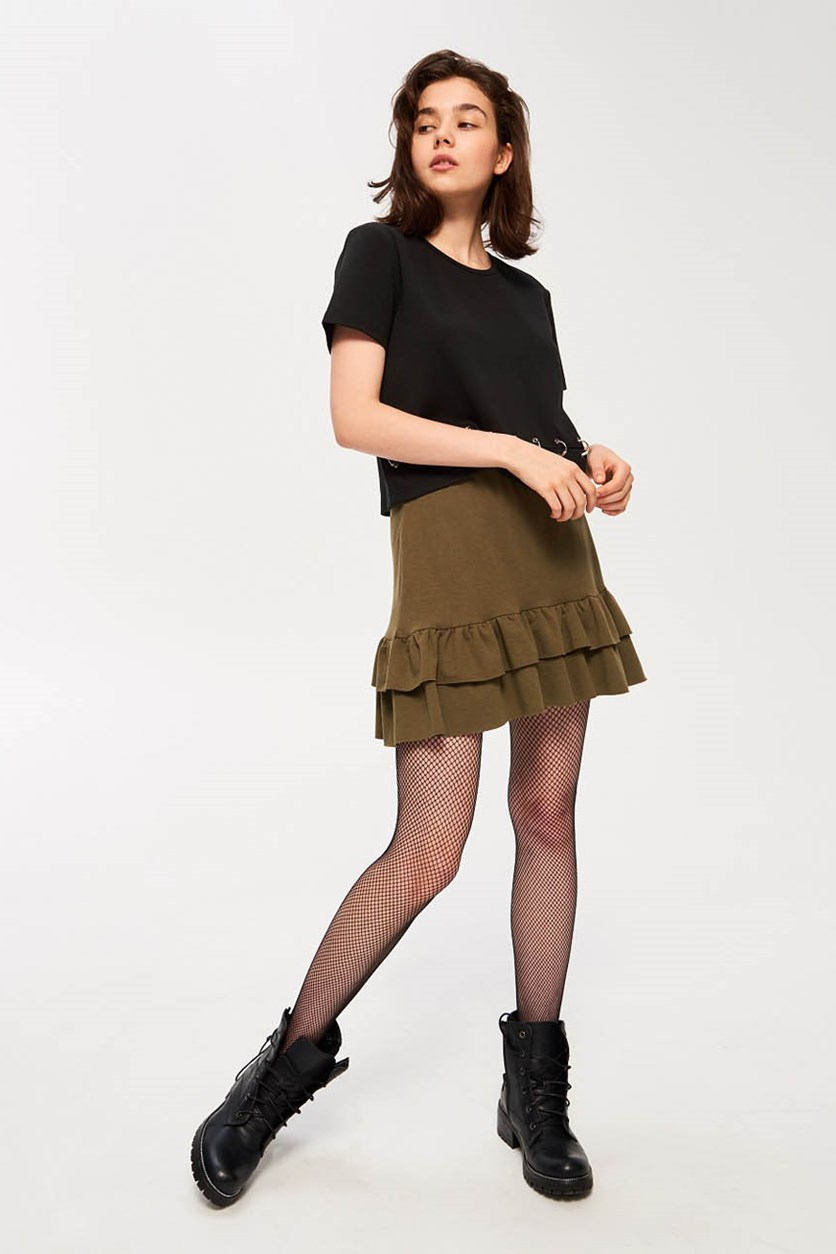 Women's Skirt With Valance, Green