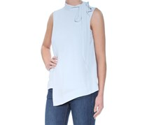 Rachel Roy Mock-Neck Asymmetrical Top,  Blue