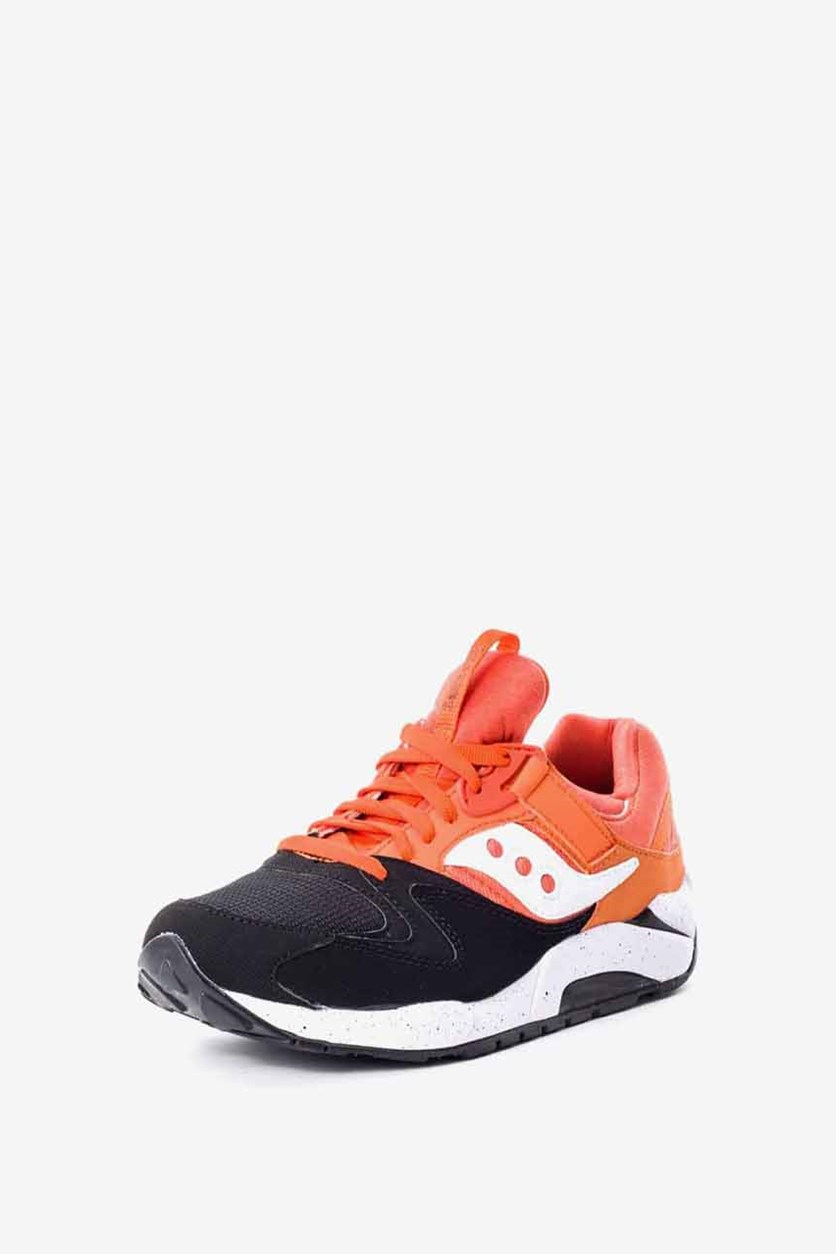 Men's Grid 9000 Trainers Sneakers, Black/Orange
