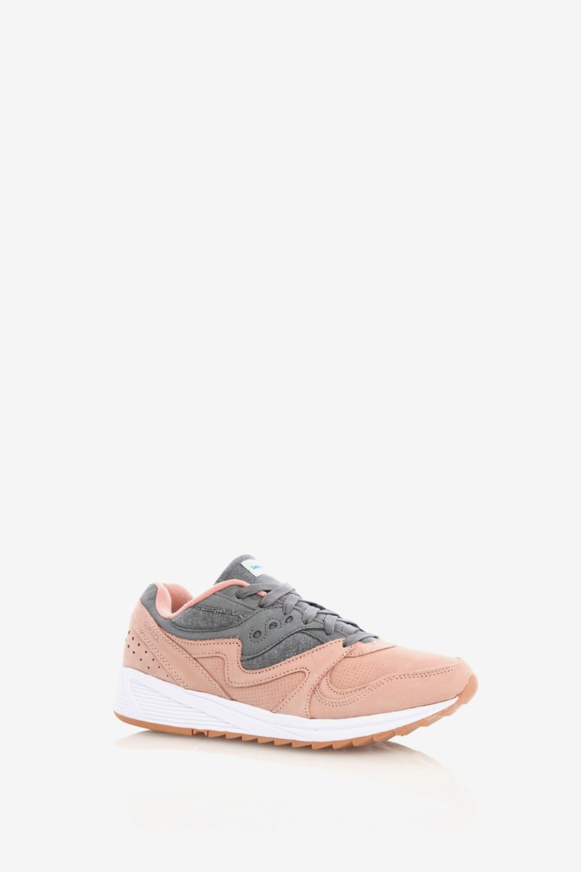 Men's Grid 8000 Sneakers, Salmon/Charcoal