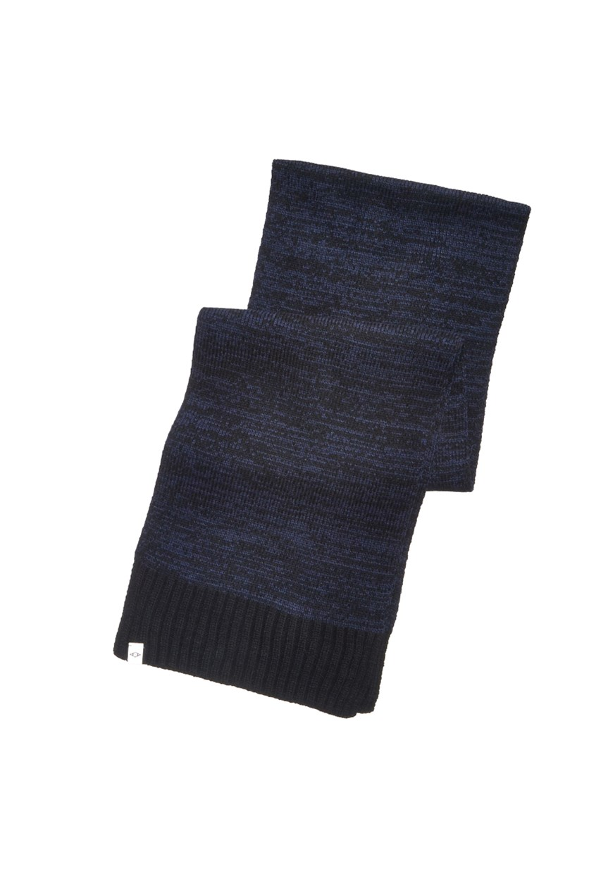 Men's Pace-Dyed Scarf, Navy/Black