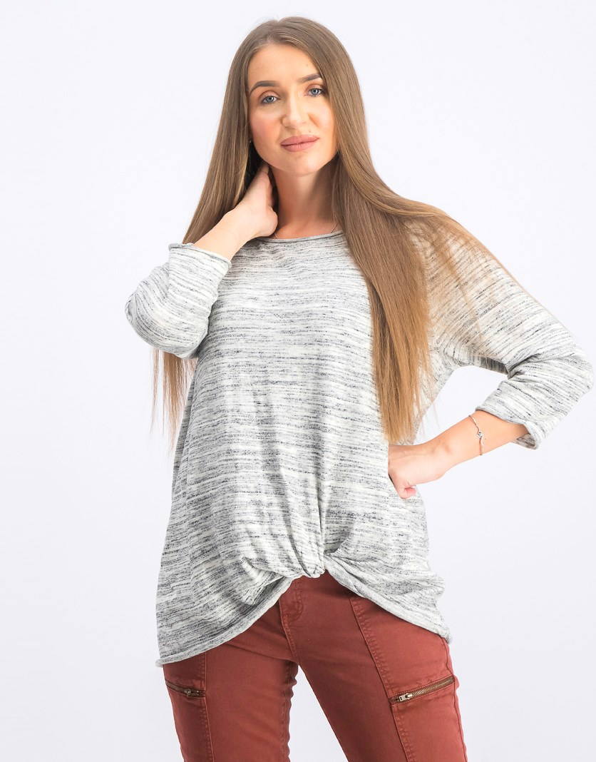 Women's Pullover 3/4 Sleeve Top, Grey