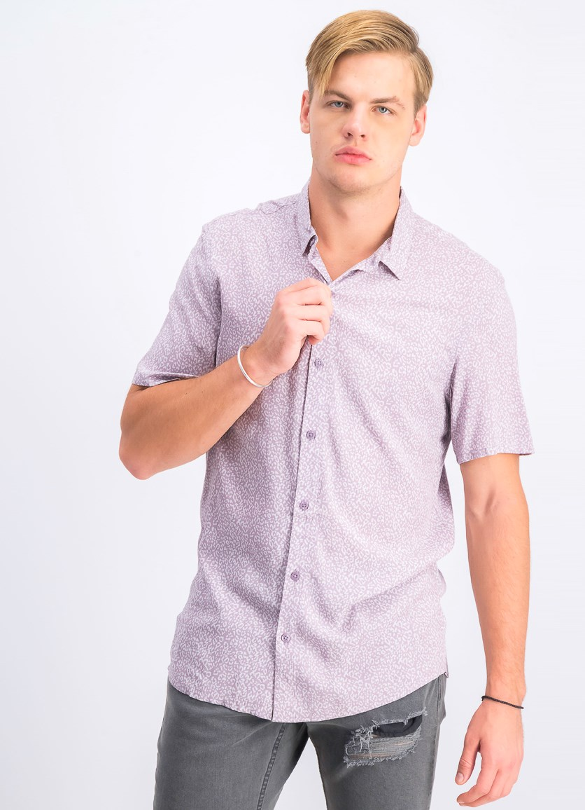 Men's Quincy Rayon Shirt, Mauve