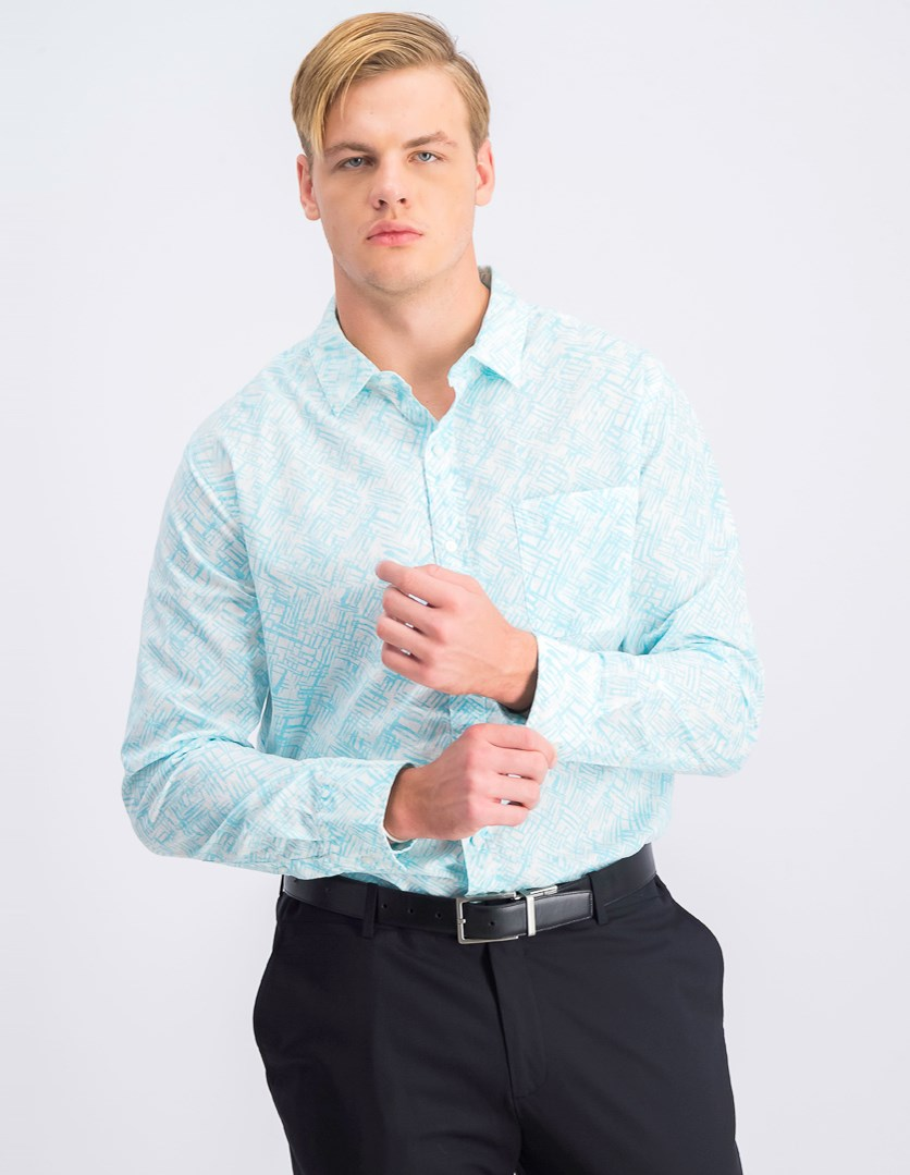 Men's Long Sleeve Slim Fit Shirt, Pale Blue