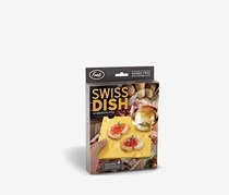 Swiss Dish Cheese Slice Party Plates, Set of 4, Yellow