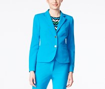 Calvin Klein Petite Two-Button Jacket, Blue