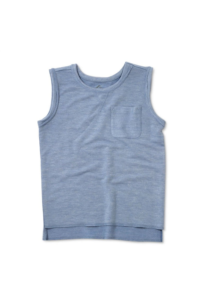 Boys' Sleeveless Muscle Tank Top, Blue Heather