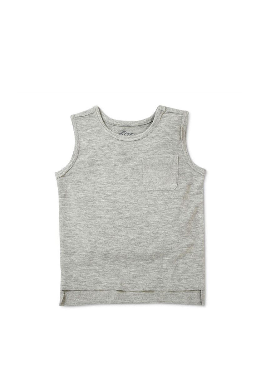Kids Boys' Sleeveless Muscle Tank Top, Light Gray