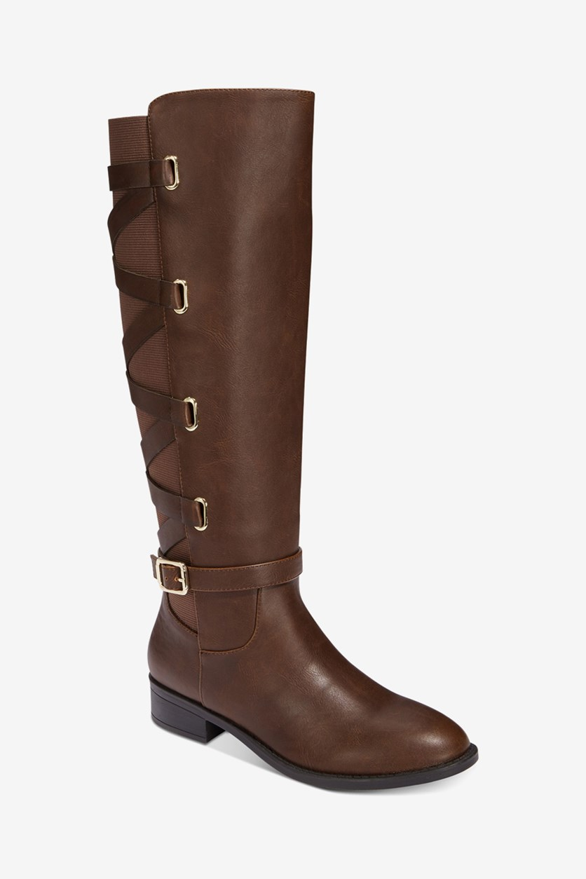 Women's Veronika Wide-Calf Tall Boots, Cognac