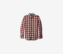 Nautica Men's Slim Fit Seedpearl Plaid Shirt, Ablaze