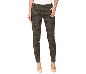 Hudson Jeans Women's Camo-Print Cropped Skinny Cargo Jeans, Olive