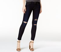 Hudson Women's Ripped Skinny Jeans, Navy Blue