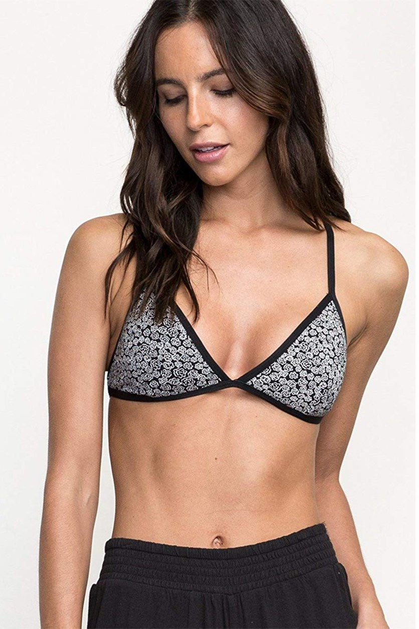 Women's Crossing Bralette, Black/White