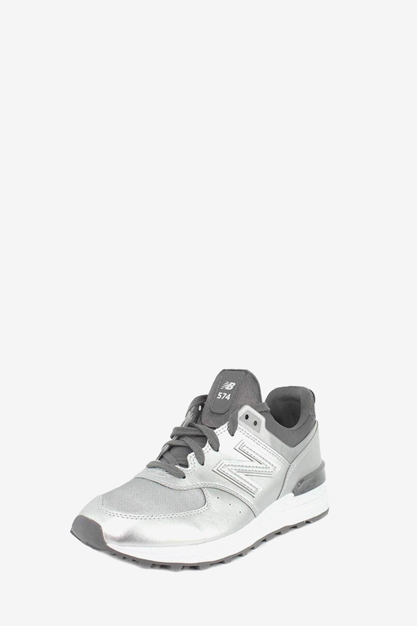 Women's 574 Lace Up Sneakers, Silver