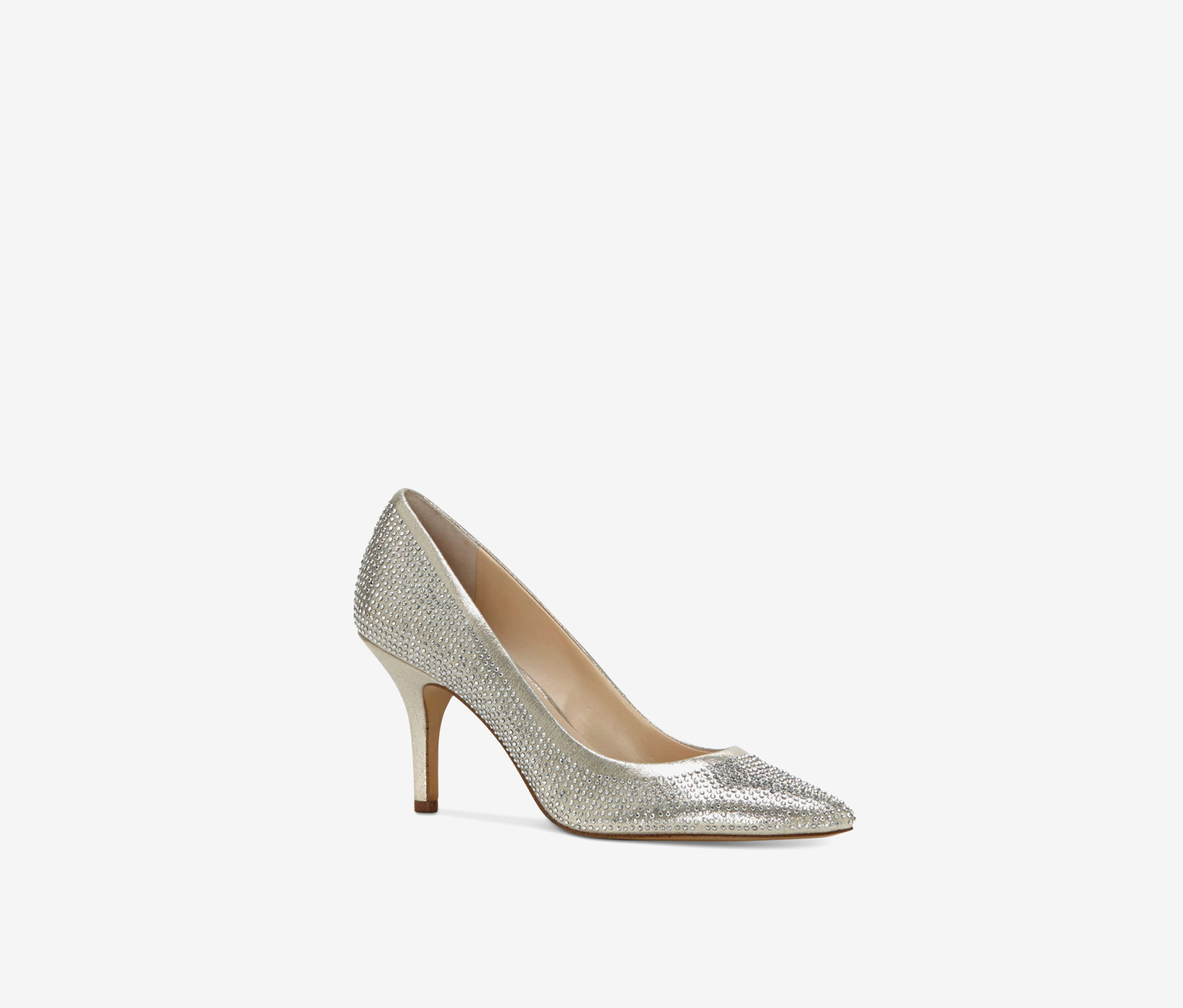 Women's Zitah Rhinestone Pumps, Pearl Gold