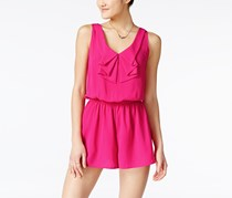 Be Bop Women's Bow-Collar Romper, Pink