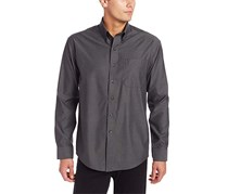 Cutter & Buck Men's Long Sleeved Shirt, Dark Grey