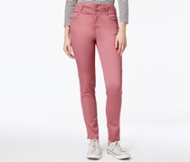 Tinseltown Women's 2-Button High-Waist Colored Skinny Jeans, Morganite